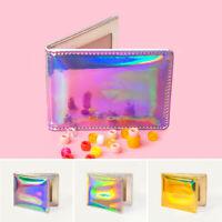 FJ- EG_ Holographic Laser Faux Leather Women Wallet Bilford Card Holder Gift Spl