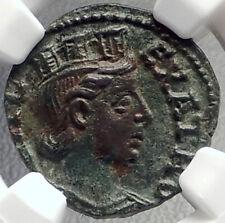 ALEXANDRIA TROAS Authentic Ancient 3rdCenAD Greek Coin TYCHE & HORSE NGC i69130