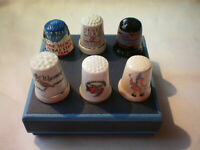 Lot of 6 Sewing Thimbles Collectible NICE