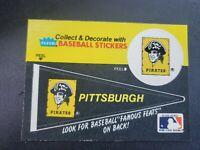 Vintage 80s Pittsburgh Pirates Fleer Sticker card