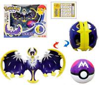 "Pokemon Monster LUNALA Poke Ball Transformation Action Figures Toy 3"""