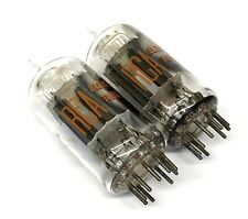 Matched Pair  12AU7A   ECC82 Used  Clear Top Side  Getter RCA USA Valve Tubes
