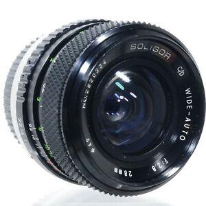 Soligor (Sun) C/D Wide-Auto 28mm f/2.8 Wide Angle Prime Lens | P/K | Near Mint