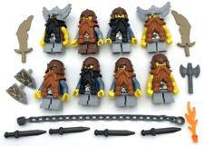 LEGO 3 NEW FANTASY ERA DWARF MINIFIGURES KNIGHT MEDIEVAL WARRIORS W// WEAPONS