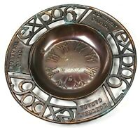 VTG Expo 67 Montreal Canada Brass Copper ? Ashtray Trinket Dish 4.5 Inches Japan