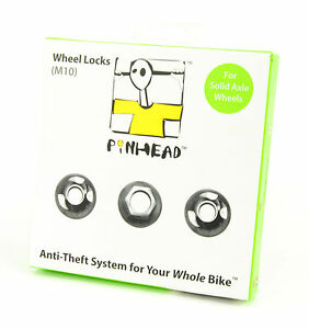PINHEAD M10 SOLID AXLE LOCKING NUTS BICYCLE HUB PART