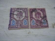 Edward VII two 5d usedStamps