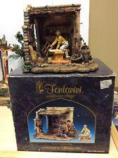 "2000 Fontanini ""Carpenters Shed� Roman Italy 50509 with Bonus Amos Figurine"