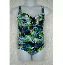 TORRID womens one piece swimsuit plus size 0 12 tropical print corset front NEW