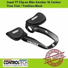 Controltech Impel TT Clip-on Bike Aerobar 3k Carbon Triathlon Black Arm Rest