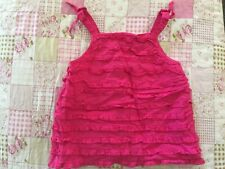 Gymboree Ice Cream Sweetie Hot Pink Ruffled Bow Tank Top 5T