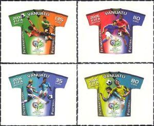 Vanuatu 2006 Football World Cup Championships/WC/Soccer/Sports 4v s/a set n15871
