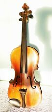 Antique Amati Amatus Violin Copie Germany 4/4 Full Size Beautiful Tiger Wood