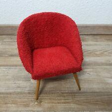 50er 60er Jahre Modell Sessel cocktailsessel Plüsch mid century vintage