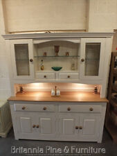 HAMPSHIRE PAINTED 4 DOOR DISPLAY DRESSER- SOLID OAK TOP- BESPOKE- HAND MADE