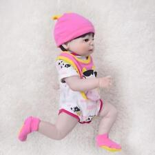 22'' Full Body Vinyl Silicone bebe Reborn Baby Girl dolls Lifelike Bath toys new