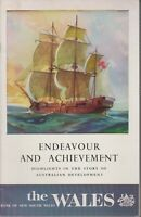 AUSTRALIANA , ENDEAVOUR AND ACHIEVEMENT , THE WALES , BANK OF NSW