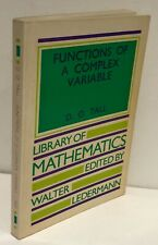 Functions of a Complex Variable (Library of Mathemat... by Tall, David Paperback