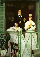 The Balcony by Edouard Manet Giclee Fine Art Print Reproduction on Canvas
