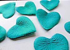 quality teal green HEART silk PETAL WEDDING//TABLE/DECORATION/CONFETTI