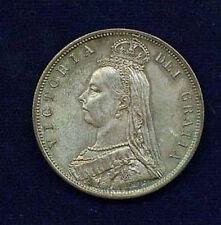 ENGLAND VICTORIA 1887 HALF-CROWN COIN, UNCIRCULATED