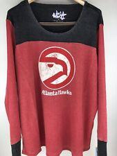 Atlanta Hawks Long Sleeve Shirt Women's 3X Thermal NBA Top Red Black Plus Size