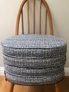 MyHome NEW Seat Pads / Cushions For Ercol Dining Chairs (Blue / Grey)