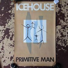 Icehouse Primitive Man Poster Rare Original Promo 1982 22x33