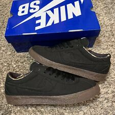 Nike Sb Bruin Black Gum Camo Lining Canvas 2011 Skateboarding Sneaker Size 10