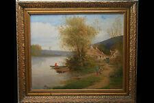 Huile sur toile, paysage Sud Ouest, France / Oil on canvas, french landscape