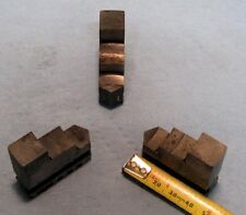 Set of 3 O.D. Chuck Jaws for 3 Jaw Lathe Used