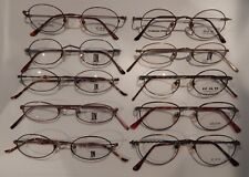 Vintage 10 Pc. Deja Vu Assorted Metal Styles Eyeglass Frame Lot NOS  #247F