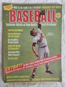1971 Sports Quarterly Magazine Baseball, Brooks Robinson, Baltimore Orioles