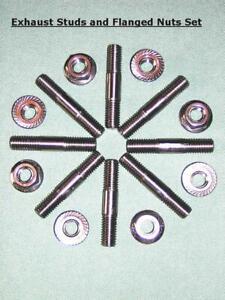 Kawasaki Z1/Z650/Z900/Z1000 Exhaust Studs & Flanged Nuts 6mm/M6 Stainless Steel