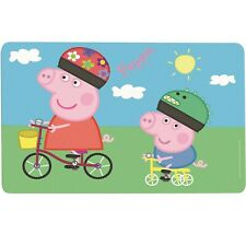 Peppa Pig Place Mat Mealtime Plastic Placemat Peppa Pig and George New
