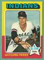 1975 Topps Gaylord Perry NM+ OC Cleveland Indians #530