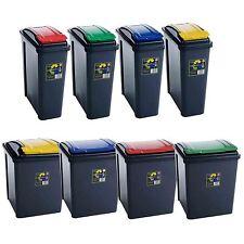 25L 50L Plastic Recycle Recycling Bin Lid Kitchen Rubbish Dustbin Garden Waste