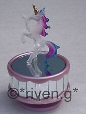 UNICORN MUSIC BOX ROTATING GLASS CHRISTMAS GIFT@NEW SLEEPING BEAUTY TUNE@FANTASY