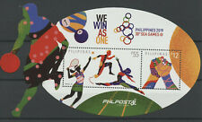 Philippines Sports Stamps 2019 MNH 30th Sea Games Tennis Basketball 2v M/S