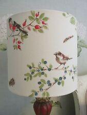 Handmade Drum Lampshade  Laura Ashley British Birds fabric 30cm size