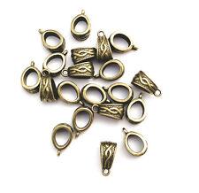 Antique Brass 13mm Decorative Bail Findings • Q20 • 65310
