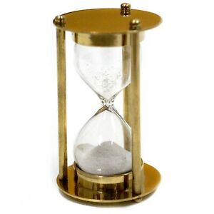 Brass 1 Minute Timer - Hourglass