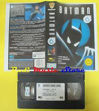 VHS film BATMAN 6 1995 WARNER GLI SCUDI PIV 13696 65 min animazione (F64) no dvd