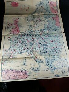 World War II. map: Afro-European Theater of War. c. 1943. Pictograph Corp.