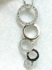 White Gold Round Fine Diamond Necklaces & Pendants