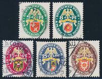 DR 1929, MiNr. 430-434, sauber gestempelt, gepr. Schlegel, Mi. 190,-