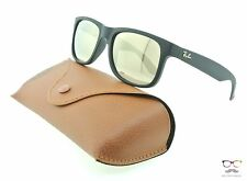 Ray Ban RB4165 Justin 622/5A Rubber Black / Gold Mirror Sunglasses 51mm