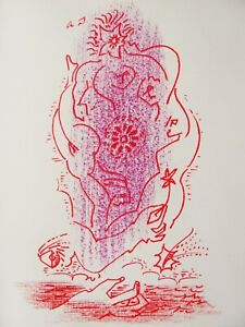 ANDRE MASSON - SURREAL #  4 -  ORIGINAL LITHOGRAPH - C.1960 - FREE SHIP IN US
