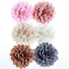 20PCS 10CM Vintage Fabric Flowers For Headbands Satin Flower For Women Hair Clip