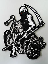 Embroidered Biker Back Jacket Patch - Riding Reaper Patch